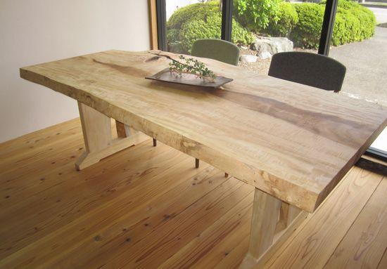 栃無垢一枚板テーブル2