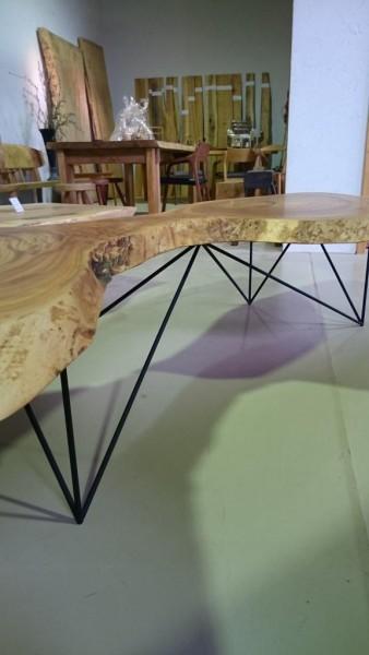 欅一枚板変形座卓3