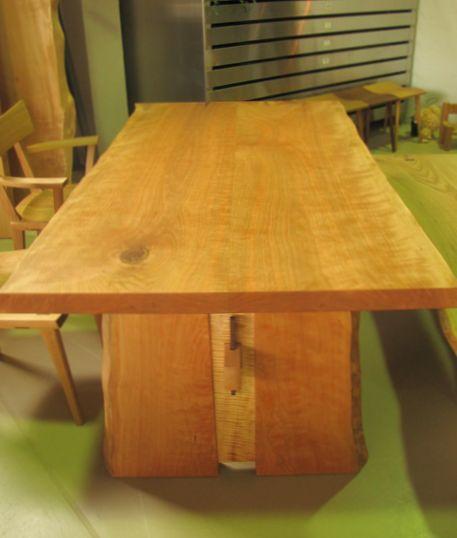 ブラックチェリー無垢テーブル
