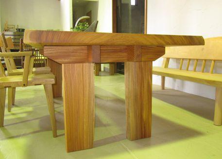 けやき一枚板テーブル脚