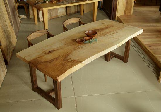 栃無垢一枚板テーブル