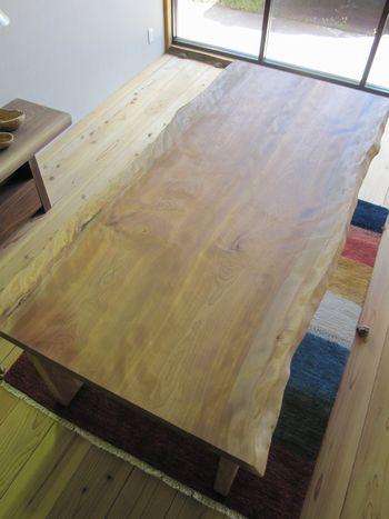 水目桜無垢テーブル2