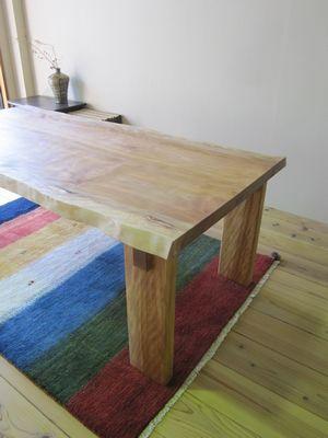 水目桜無垢テーブル