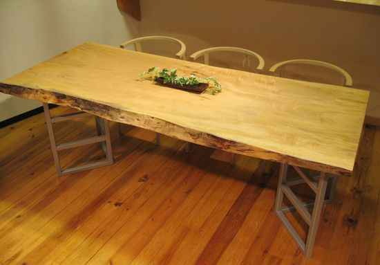 栃無垢一枚板テーブル3